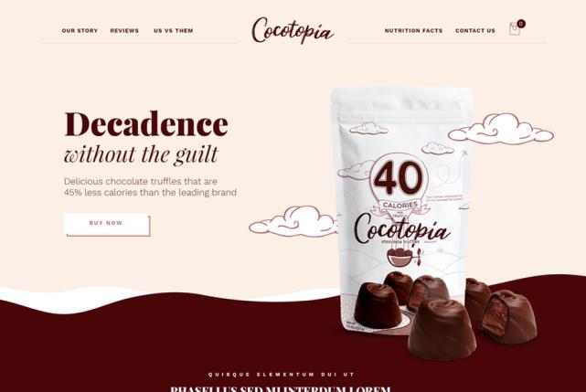 Thiết kế web thực hiện bởi Sandra Eftimie